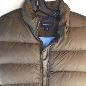 Lands End Women's Size S Puffer Quilted Vest Brown